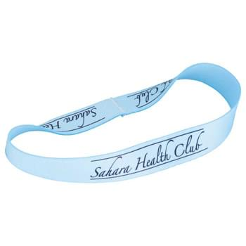 "Full Color Head Band - 18""L x 1/2""W - Fully sublimation-dyed headband. 1/2-inch width. Elastic stretch polyester. Packed in standard bundles of 50. Made in USA. FOB ZIP: RI, 02920"