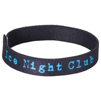 "Full Color Wrist Band - 7""L x 1/2""W - Fully sublimation-dyed personal wrist band. 1/2-inch width. Elastic stretch polyester. Packed in standard bundles of 50. Made in USA. FOB ZIP: RI, 02920"