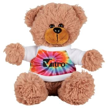 "6"" Sitting Plush Bear with Shirt - Soft, huggable plush animal makes a great gift and is a cool way to promote your brand. Choose a colorful t-shirt to display your message."