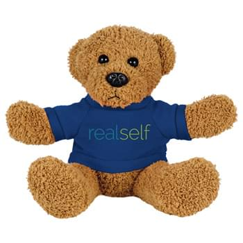 "6"" Plush Rag Bear with Shirt - Soft, huggable plush animal makes a great gift and is a cool way to promote your brand. Choose a colorful t-shirt to display your message."