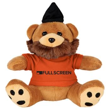 "6"" Plush Hipster Bear with Shirt - Dont miss out on one of the biggest trends of the year with this hipster bear that includes a beanie and beard. This soft"