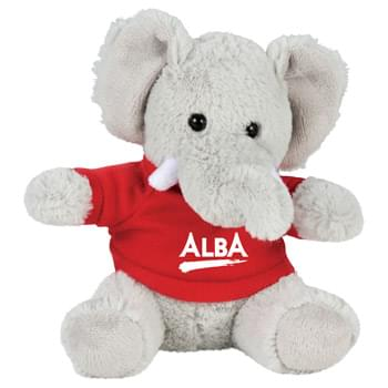 "6"" Plush Elephant with Shirt - Soft, huggable plush animal makes a great gift and is a cool way to promote your brand. Choose a colorful t-shirt to display your message."