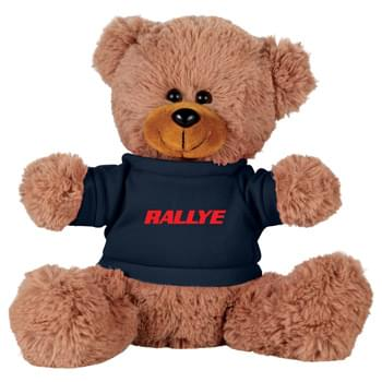 "8"" Sitting Plush Bear with Shirt - Soft, huggable plush animal makes a great gift and is a cool way to promote your brand. Choose a colorful t-shirt to display your message."