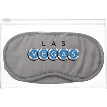 E-Z Comfort Set - Zip-top resealable pouch. Includes polyester eye mask and 2 foam earplugs.