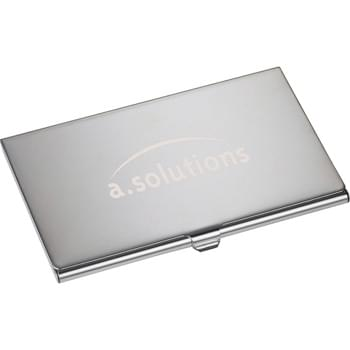 Traverse Business Card Holder - Business card holder with mirror finish.  Holds approximately 10 business cards.