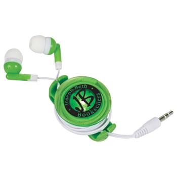 Light Up Earbud Case - CLOSEOUT! Please call to confirm inventory available prior to placing your order!<br />Clip-on blinking light case with earbuds that holds the earbud cord steady and tangle free during outdoor use. Case can be used for other earbuds Use with any 3.5mm audio jack. Batteries included.